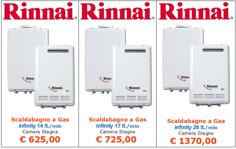 scaldabagno a gas rinnai infinity vendita a roma