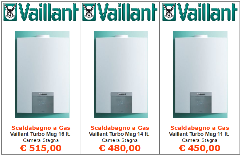 scaldabagno a gas vaillant turbomag plus camera stagna vendita a roma
