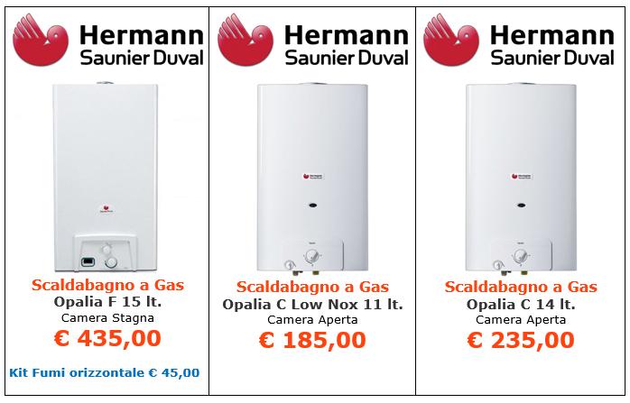 Scaldabagno a gas Hermann Saunier Duval - Opalia