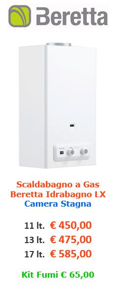 scaldabagno a gas beretta idrabagno lx a roma