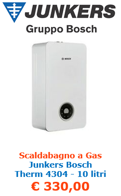 scaldabagno a gas junkers bosch therm 4304 10 litri a roma