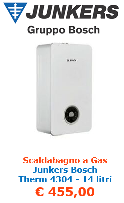 scaldabagno a gas junkers bosch therm 4304 14 litri a roma