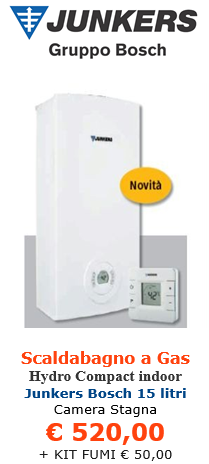 scaldabagno a gas junkers bosch therm 5600 15 litri indoor a roma