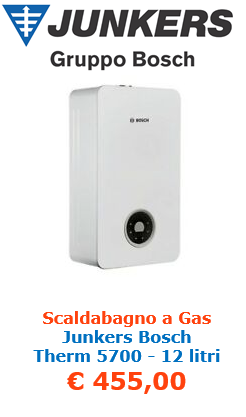 scaldabagno a gas junkers bosch therm 5700 12 litri a roma