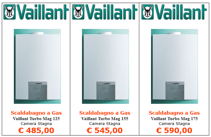 scaldabagno a gas vaillant turbomag a roma