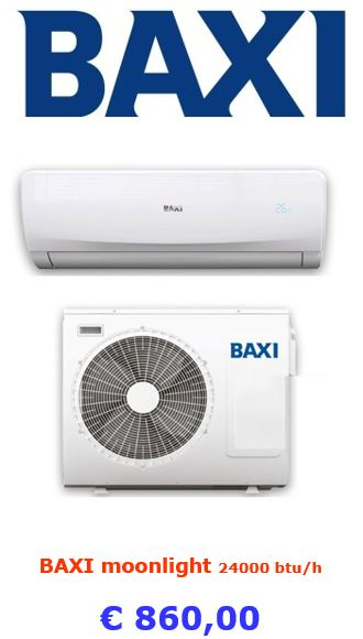 climatizzatore baxi moonlight 24000 btu a roma