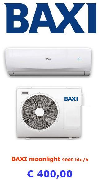 climatizzatore baxi moonlight 9000 btu a roma