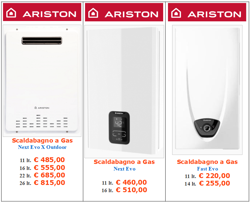 scaldabagni ariston evo a roma