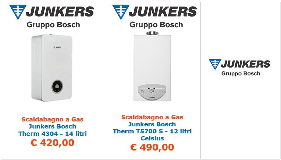 scaldabagno a gas junkers bosch t 5700 s celsius a roma
