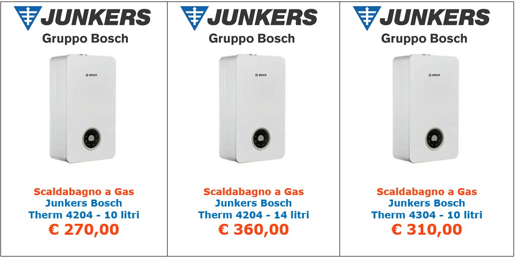 scaldabagno a gas junkers bosch therm 4204 a roma