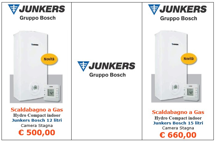 scaldabagno a gas junkers bosch hydrocompact indoor a roma